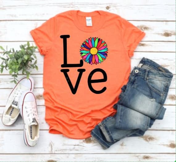 LOVE DAISY t-shirt / Fall Outfit ideas / Flower lovers t