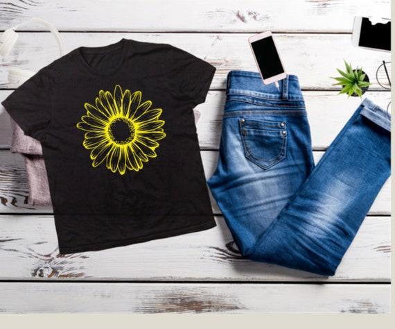 SUNFLOWER, Floral YELLOW Flower, Garden T-shirt