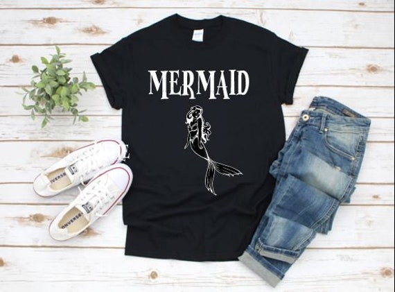 MERMAID and PIRATE / Boating family T-shirt,