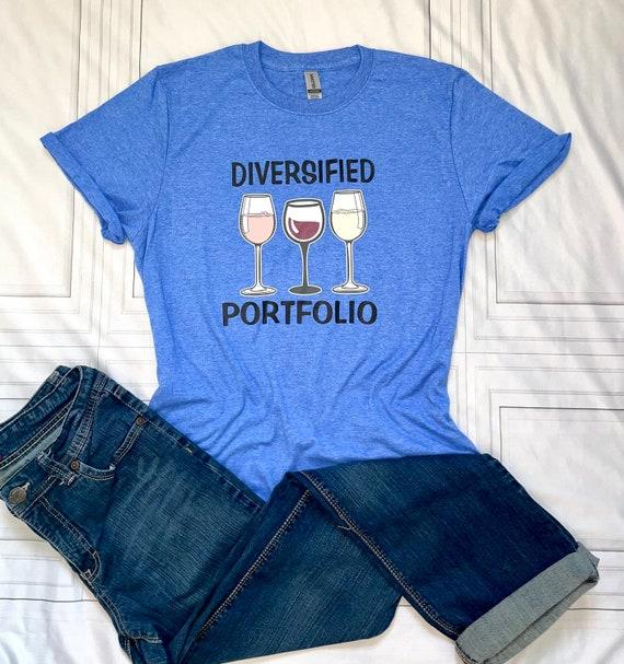 Diversified Portfolio T-shirt, WINE tee