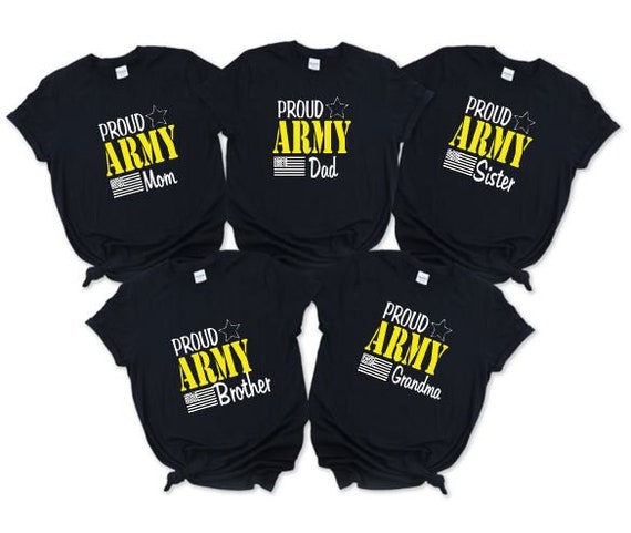 Proud Army Family, Military Solider, Black T-shirts