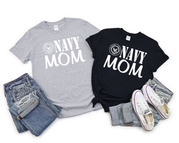 NAVY MOM, Military support, family T-shirts