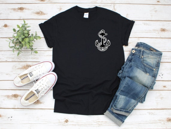 ANCHOR Boating, Captains T-shirt, Left Chest Logo