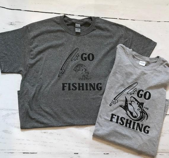 GO FISHING, Bass, shark fishing unisex T-shirts