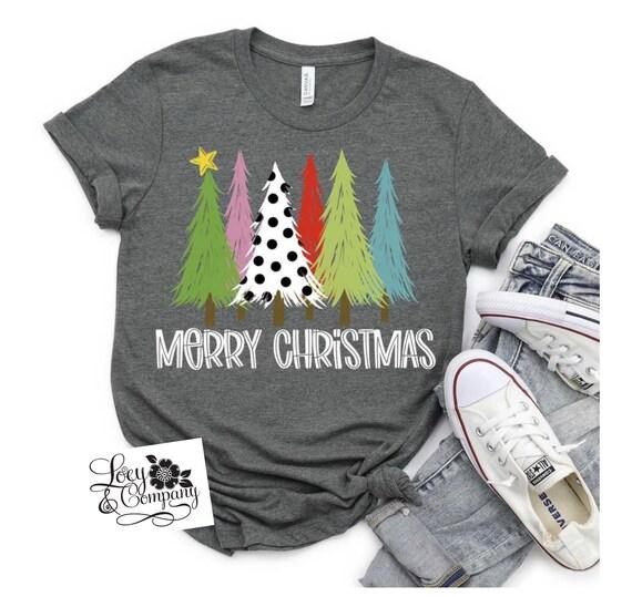 MERRY CHRISTMAS Tree Family T-shirts, fun, holiday t-shirt