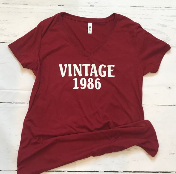 Vintage birthday and birthdate shirt