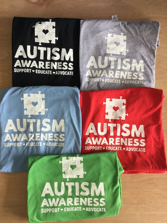 Autism T-shirt, Fun, Multiple colors, family shirts