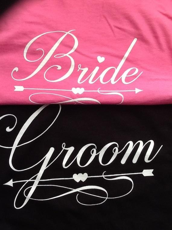 Bride and Groom Wedding T-shirts