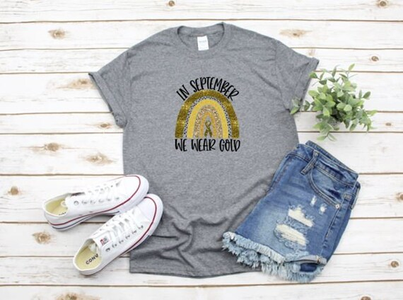 In September we wear GOLD for Childhood Cancer T-shirts