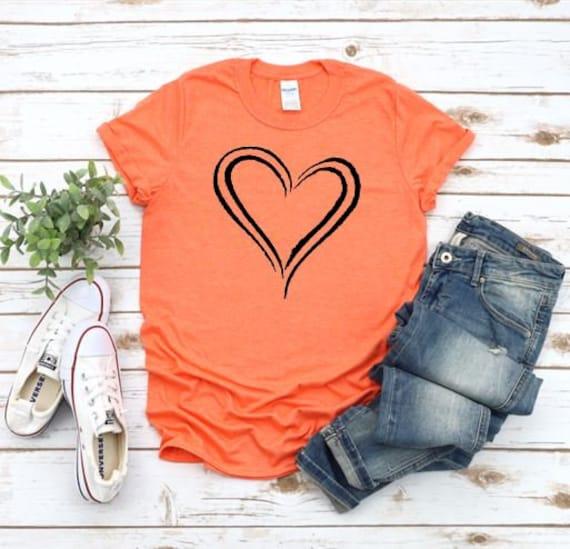 BLACK HEART, love, heart T-shirt