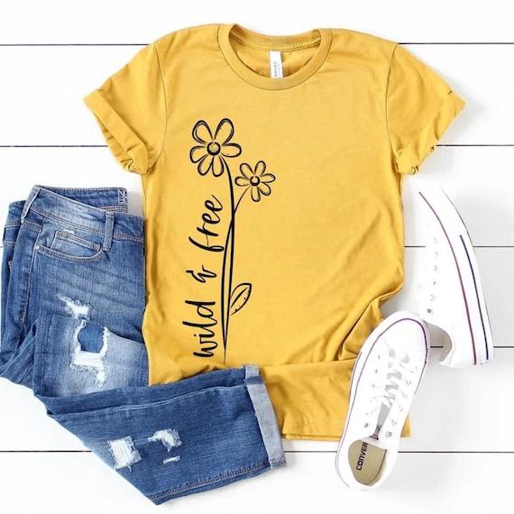 WILD & FREE, Hippie Soul, Free spirit, Boho Fun ladies t-shirt