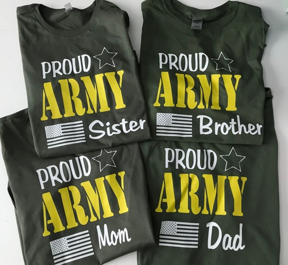 Proud Army Family, Military Solider, OD Green T-shirts