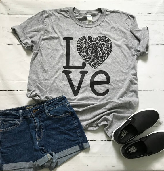LOVE Black Heart, Fun Tanks and T-shirts