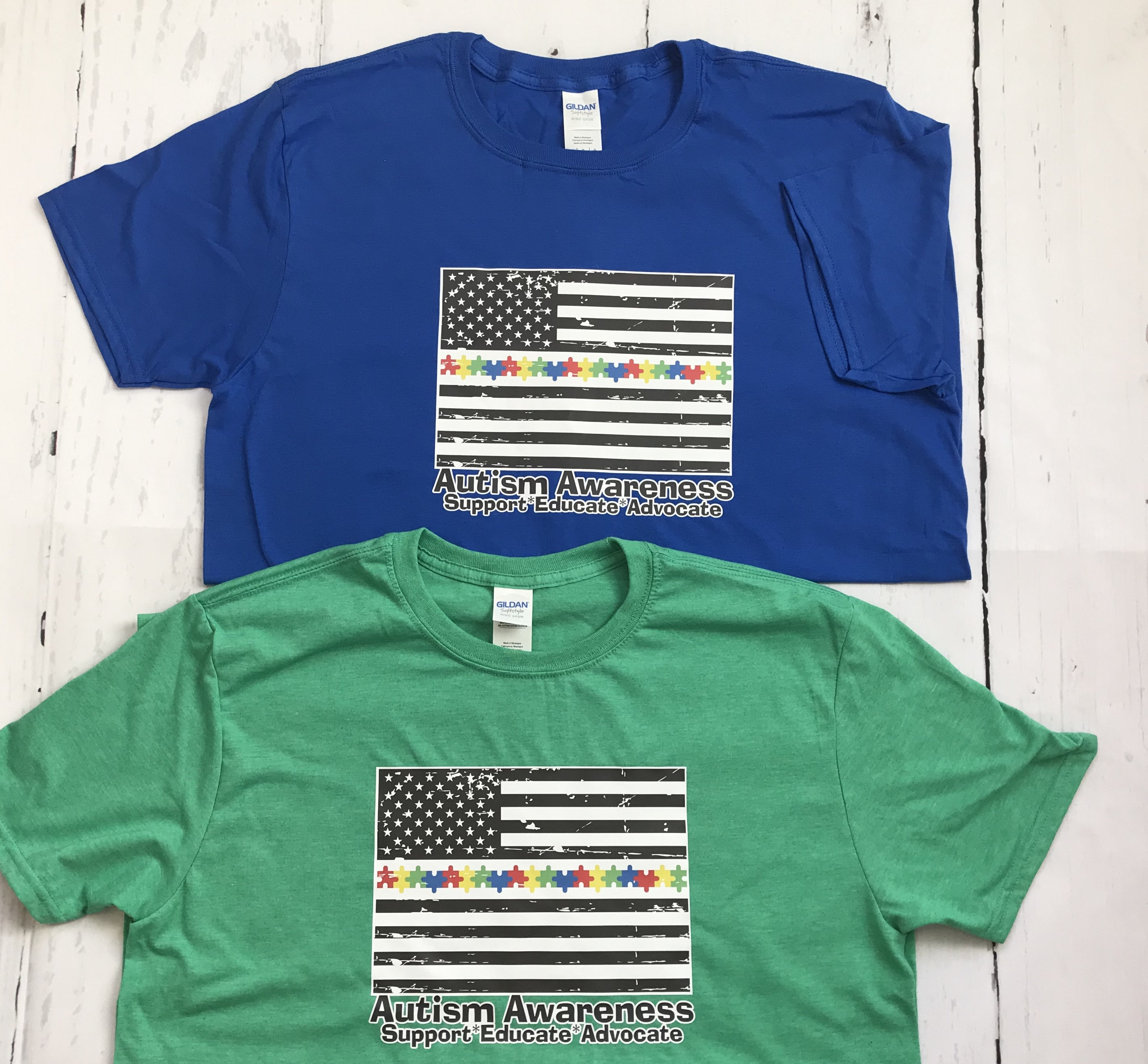 New Autism Awareness Colorful Flag T Shirts