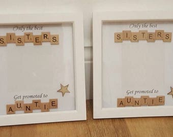 Personalised Sister Frame Auntie Birthday Gift Aunty Present Phot