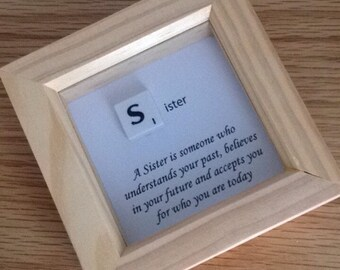 Sister Scrabble Frame Presents Small Gifts For Sisters Frames Quotes Lovely