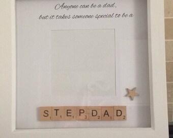 Stepdad Photoframe Step Father Birthday Present Fathers Day Gift Ideas