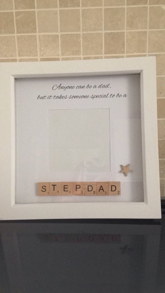 Stepdad Photoframe Step Father Birthday Present Fathers