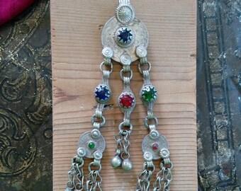 "Afghan Vintage Tribal Coin Pendant 5.25"" DIY Supplies (#6210)"