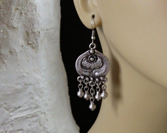 Antique Reproduction of Ottoman Style Classic Turkish Handmade Earrings