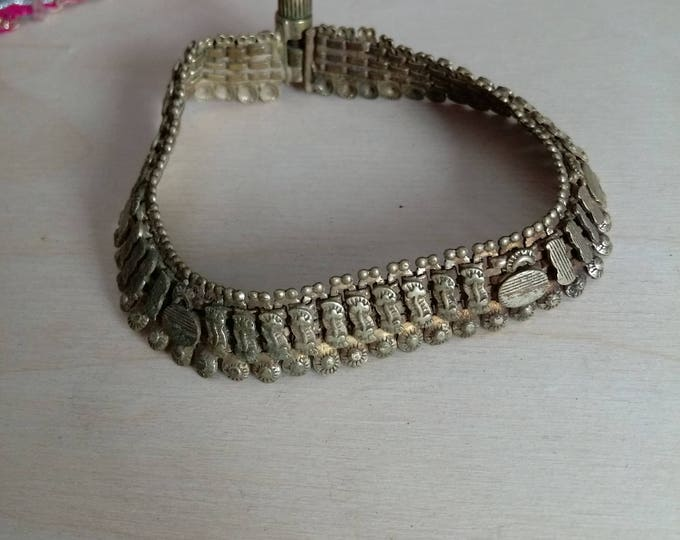 Vintage Rajasthani Bracelet or Small Anklet Ethnic South Asian Indian  Jewelry Adornment Motifs 6.875