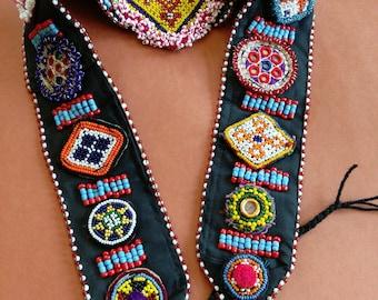 Adjustable Tribal Dance ATS Belt Vintage Kuchi Gul (#6132)