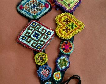 Adjustable Tribal Dance ATS Belt Vintage Kuchi Gul (#6143)