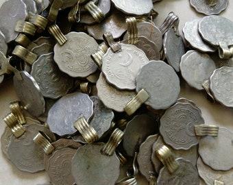 25 Vintage Tribal Kuchi Coins Scalloped Edges