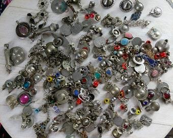 NumiSupplies Bulk Destash 16oz/448g ONE POUND Wholesale Tribal Findings Kuchi Turkmen Waziri Ethnic Jewelry Bits (#7221)