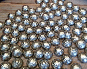 1000x Flower Stamped Tribal Buttons Silver-Tone 13mm Vintage Notions