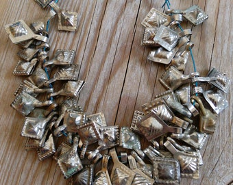 50x Vintage Stylized Hamsa Charms Tribal Findings
