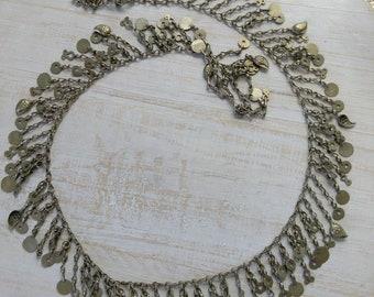 "Vintage Kuchi Tribal Jewelry Chain 31.5"" x 1.5"" (#6883)"