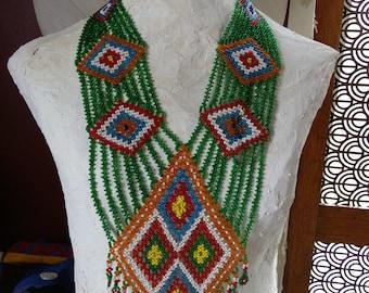 Kuchi Beaded Necklace Body Drape Evil Eye Symbols (#7204)