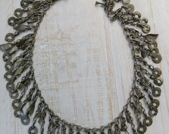 """Vintage Tribal Jewelry Chain 17"""" by 1.75"""" (#6882)"""