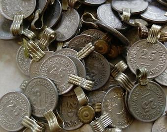 25 Extra Small XS Vintage Kuchi Tribal Coins SIMILAR Style
