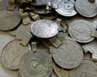 """100 Large Vintage Kuchi Tribal Coins 1"""" SIMILAR STYLE"""