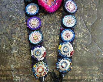 Adjustable Tribal Dance ATS Belt Vintage Kuchi Gul (#6138)