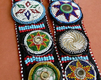 Adjustable Tribal Dance ATS Belt Vintage Kuchi Gul (#6133)