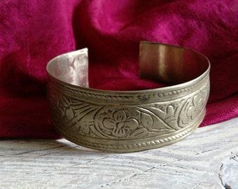 """Vintage Tribal Bracelet Slightly Refurbished Size 7.25"""" Adjusts (#6223)"""