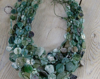 Bulk Lot Ancient Roman Glass Beads Afghanistan 10 Strings (#7212)