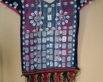 "Turkmen Child's Vest ""Kirlik"" Ceremonial Tribal Adornment Home Decor Ethnic Yomud Yomut (#7)"