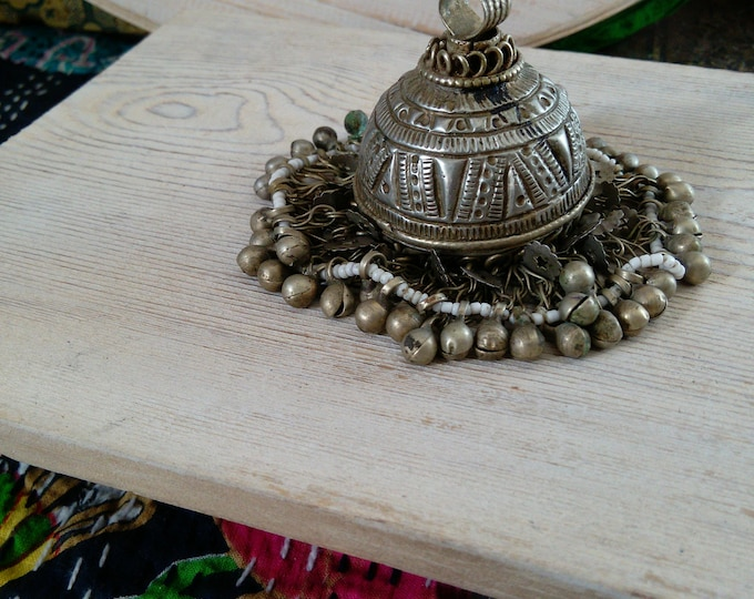 Vintage Tribal Jewelry Pendant VERY Big Ethnic Adornment Finding (#7255)