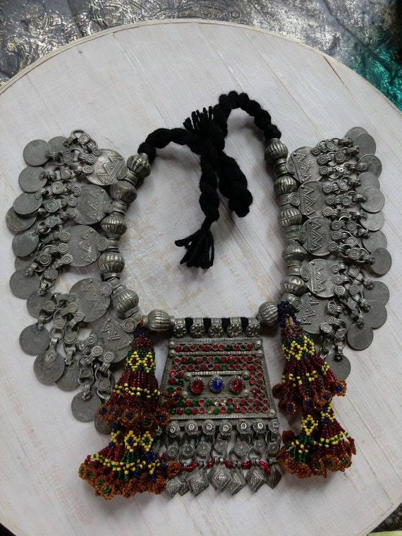 Beautiful Vintage Balochistan Tribal Necklace (#6570)