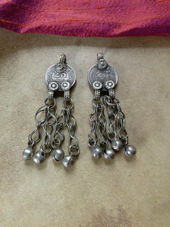 Pair Vintage Tribal Coin Pendants for DIY Jewelry Ethnic Arts Crafts