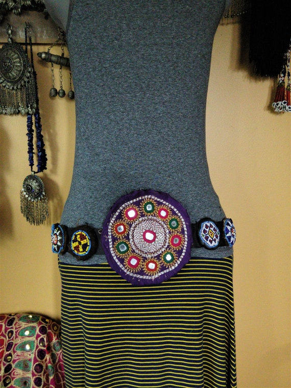 "Tribal Dance ATS Belt Big and Small Patches 32"" Adjustable (#6340)"