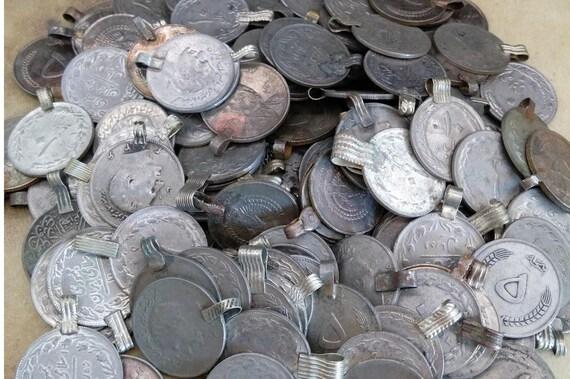 25 XL Vintage Kuchi Tribal Coins