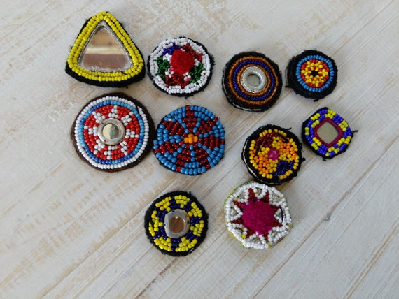 10x SMALL Mixed Tribal Patches (#6506)