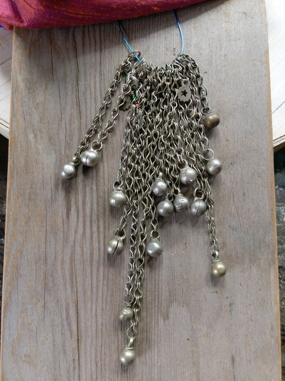 15X Round Baubles Vintage Bell-Like Dangles on Chain (#6519)