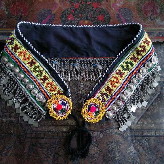 "ATS or Tribal Dance Belt Size 33.5"" - 45.5"" Beautiful Chain and Accents"