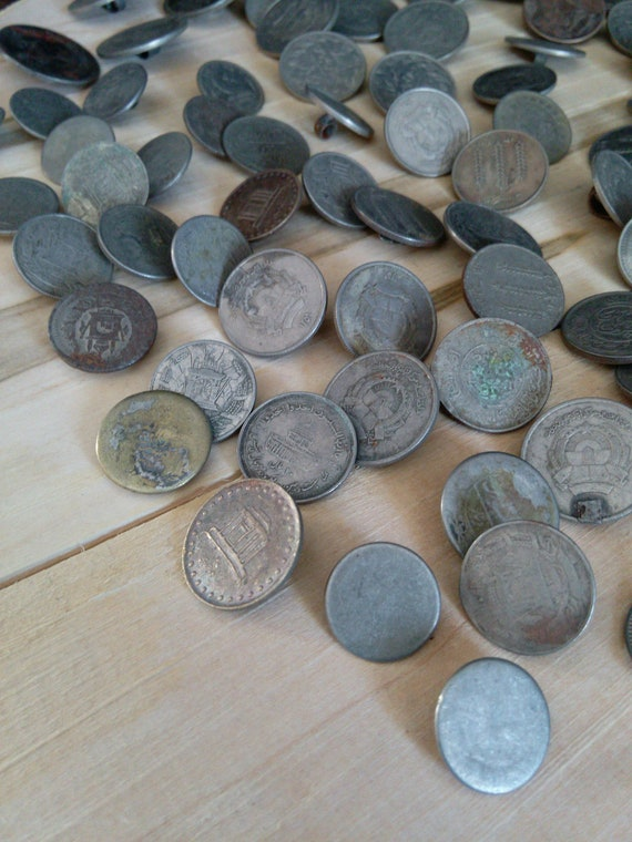 1 POUND Bulk Vintage Tribal Coin Buttons Variety